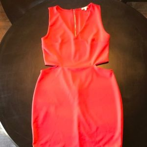 Charlotte Russe Red Keyhole Dress